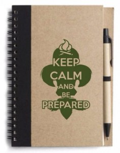 Notatnik harcerski KEEP CALM AND BE PREPARED